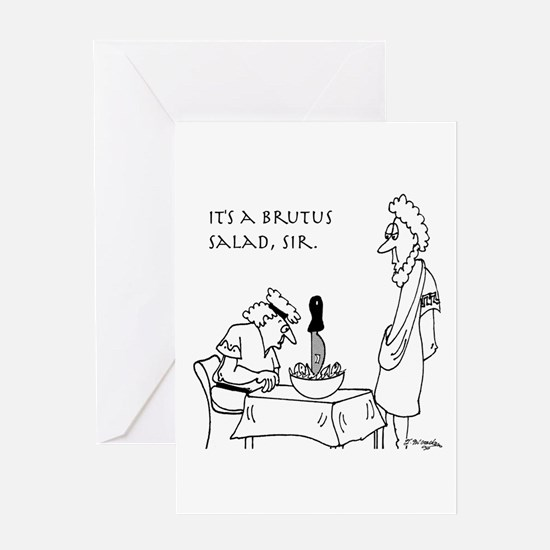 Brutus Salad Greeting Card