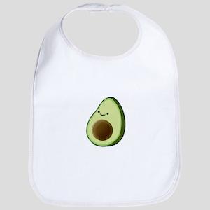 Cute Avocado Drawing Baby Bib