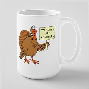 A-holes Large Mug