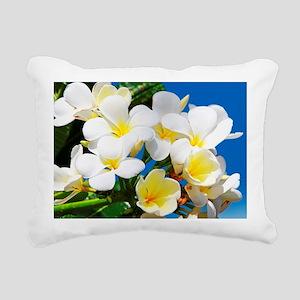 Plumeria Rectangular Canvas Pillow