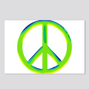 green gradient peace copy Postcards (Package o