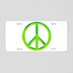 green gradient peace copy Aluminum License Pla