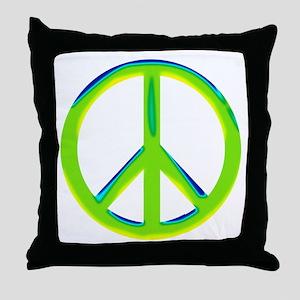 green gradient peace copy Throw Pillow
