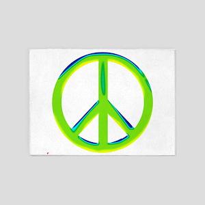 green gradient peace copy 5'x7'Area Rug