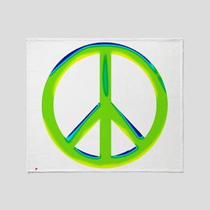green gradient peace copy Throw Blanket