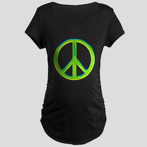 green gradient peace copy Maternity T-Shirt