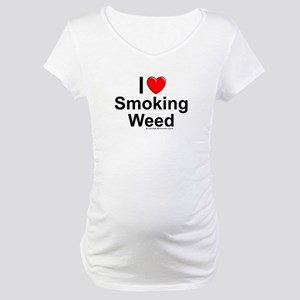 Smoking Weed Maternity T-Shirt