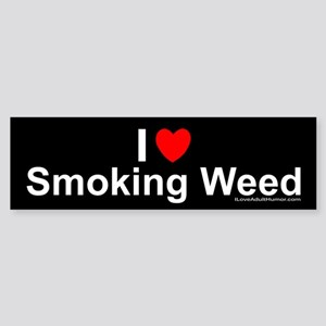 Smoking Weed Sticker (Bumper)