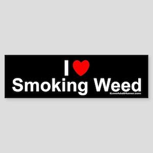 Smoking Weed Sticker (Bumper)