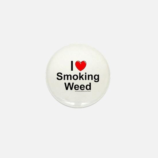 Smoking Weed Mini Button