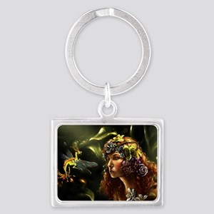 Dragon Fly, Fairy Landscape Keychain