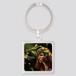 Dragon Fly, Fairy Square Keychain