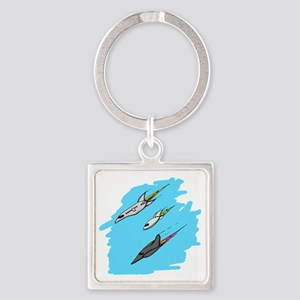 Air Show Square Keychain