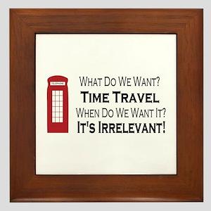 Time Travel Framed Tile