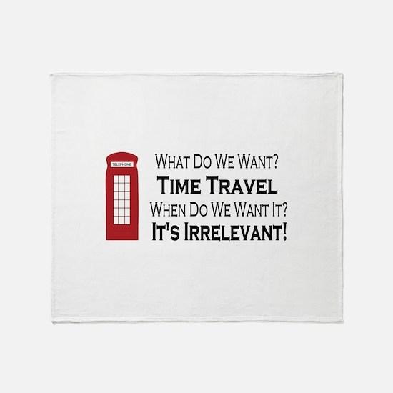 Time Travel Throw Blanket