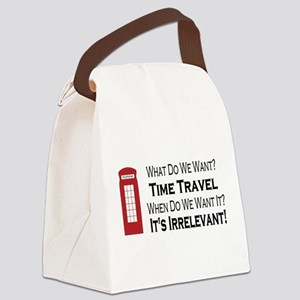 Time Travel Canvas Lunch Bag