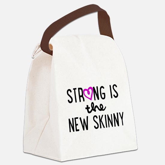 Strong is the New Skinny Girly Canvas Lunch Bag