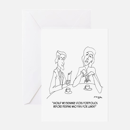 Exchange Stock Portfolios on a Date Greeting Card
