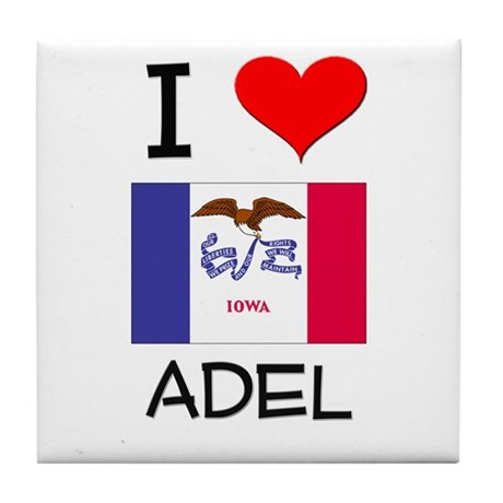 I Love Adel Iowa Tile Coaster