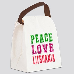 Peace Love Lithuania Canvas Lunch Bag