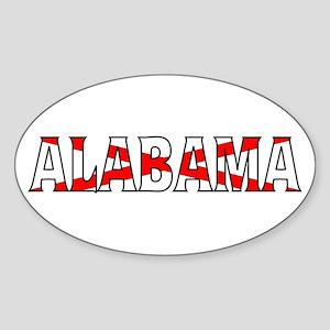 Alabama Flag Oval Sticker