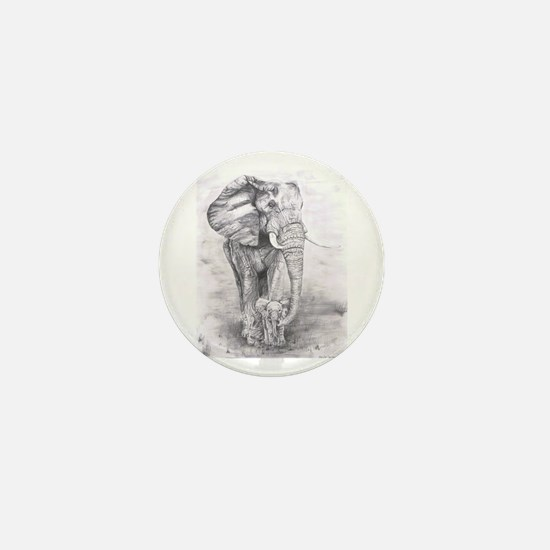 African Elephants Mini Button (100 pack)