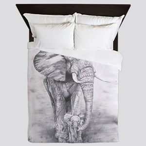 African Elephants Queen Duvet
