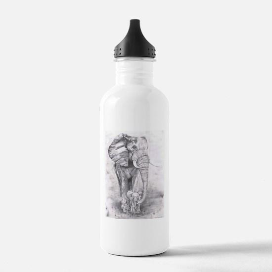 African Elephants Water Bottle