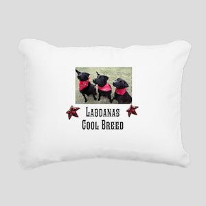 Labdanas Black Lab Rectangular Canvas Pillow