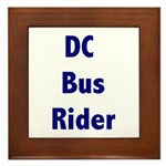 DC Bus Rider Framed Tile