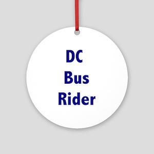 DC Bus Rider Ornament (Round)