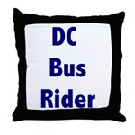 DC Bus Rider Throw Pillow