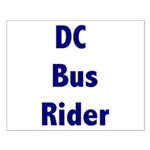 DC Bus Rider Small Poster