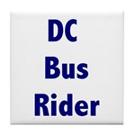 DC Bus Rider Tile Coaster