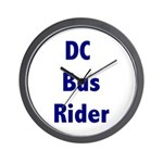 DC Bus Rider Wall Clock