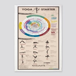 YOGA INFOGRAPHIC 5'x7'Area Rug