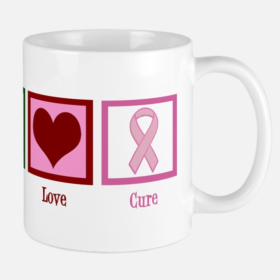 Peace Love Cure (pink) Mug