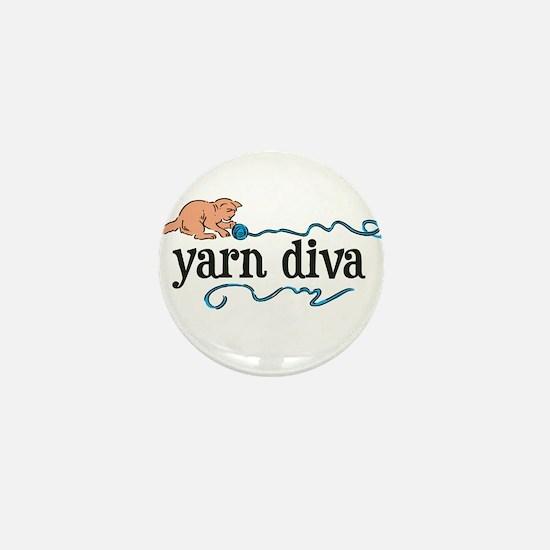 Yarn Diva Mini Button