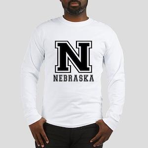 Nebraska State Designs Long Sleeve T-Shirt