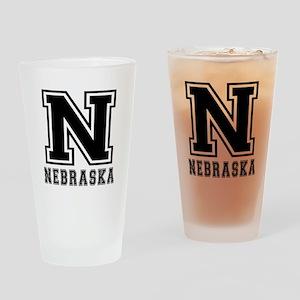 Nebraska State Designs Drinking Glass