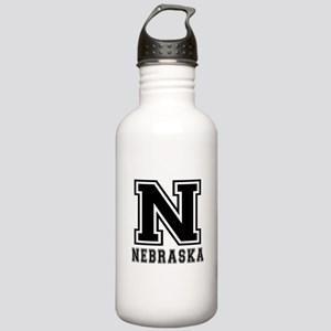 Nebraska State Designs Stainless Water Bottle 1.0L