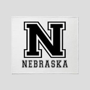 Nebraska State Designs Throw Blanket