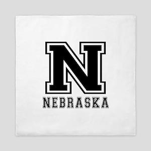 Nebraska State Designs Queen Duvet
