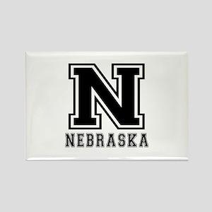 Nebraska State Designs Rectangle Magnet