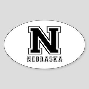 Nebraska State Designs Sticker (Oval)