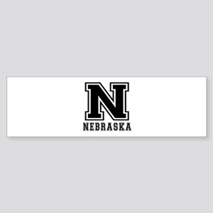 Nebraska State Designs Sticker (Bumper)
