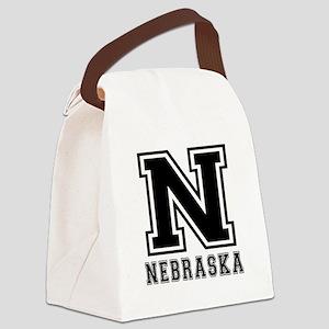 Nebraska State Designs Canvas Lunch Bag