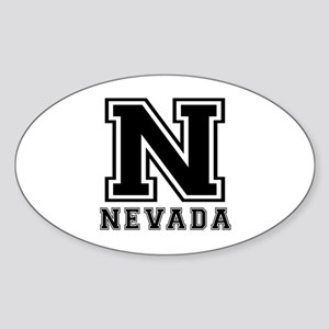 Nevada State Designs Sticker (Oval)