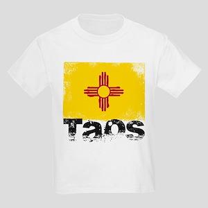 Taos Grunge Flag Kids Light T-Shirt
