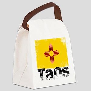 Taos Grunge Flag Canvas Lunch Bag